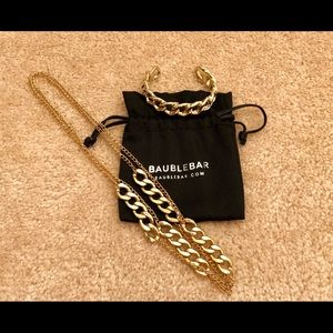 BaubleBar Long Gold Chain Necklace